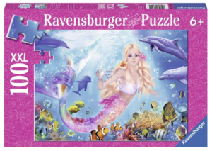 Mermaids and Dolphins 100 Piece Glitter Puzzle