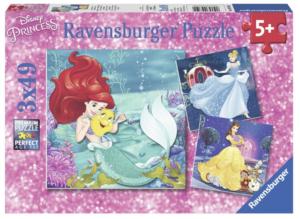 Princesses 3 X 49 Piece Puzzles