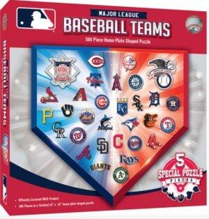 major league baseball team logo puzzle five hundred piece